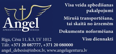 """""""Angel debesīs"""", SIA reklāma Latvijas pašvaldību amatpersonu un politiķu kontaktinformācijas katalogā"""