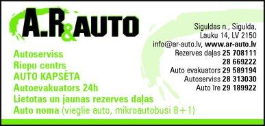 """""""AR & auto"""", SIA reklāma Latvijas pašvaldību amatpersonu un politiķu kontaktinformācijas katalogā"""