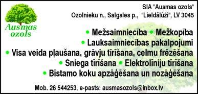 """""""Ausmas ozols"""", SIA reklāma Latvijas pašvaldību amatpersonu un politiķu kontaktinformācijas katalogā"""