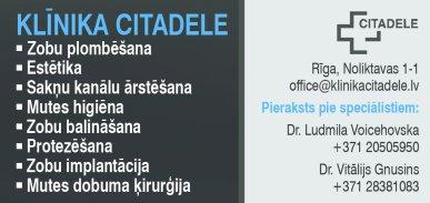 """""""Citadele"""", klīnika reklāma Latvijas pašvaldību amatpersonu un politiķu kontaktinformācijas katalogā"""