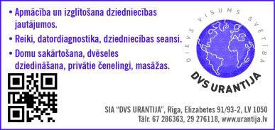 """""""DVS Urantija"""", SIA reklāma Latvijas pašvaldību amatpersonu un politiķu kontaktinformācijas katalogā"""