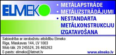 """""""Elmeko"""", SIA reklāma Latvijas pašvaldību amatpersonu un politiķu kontaktinformācijas katalogā"""