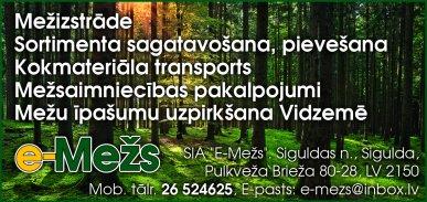 """""""E-Mežs"""", SIA reklāma Latvijas pašvaldību amatpersonu un politiķu kontaktinformācijas katalogā"""