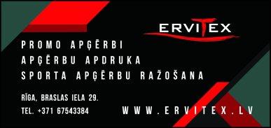 """""""ERVITEX"""", SIA reklāma Latvijas pašvaldību amatpersonu un politiķu kontaktinformācijas katalogā"""