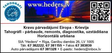 """""""Heders"""", SIA reklāma Latvijas pašvaldību amatpersonu un politiķu kontaktinformācijas katalogā"""