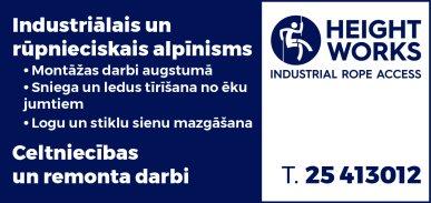 """""""Height Works"""", SIA reklāma Latvijas pašvaldību amatpersonu un politiķu kontaktinformācijas katalogā"""