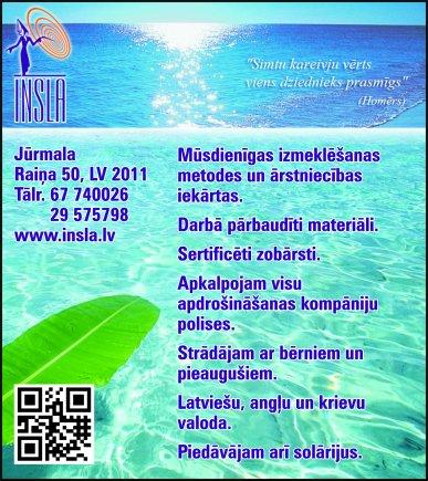 """""""Insla"""", SIA, Salons reklāma Latvijas pašvaldību amatpersonu un politiķu kontaktinformācijas katalogā"""