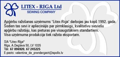 """""""Litex-Riga"""", SIA reklāma Latvijas pašvaldību amatpersonu un politiķu kontaktinformācijas katalogā"""