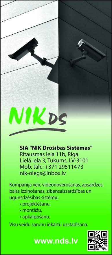 """""""NIK Drošības Sistēmas"""", SIA reklāma Latvijas pašvaldību amatpersonu un politiķu kontaktinformācijas katalogā"""