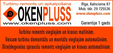 """""""Oken Pluss"""", SIA reklāma Latvijas pašvaldību amatpersonu un politiķu kontaktinformācijas katalogā"""
