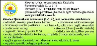 Pļavniekkalna sākumskola reklāma Latvijas pašvaldību amatpersonu un politiķu kontaktinformācijas katalogā