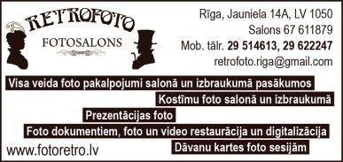 """""""Retrofoto Rīga"""", SIA reklāma Latvijas pašvaldību amatpersonu un politiķu kontaktinformācijas katalogā"""