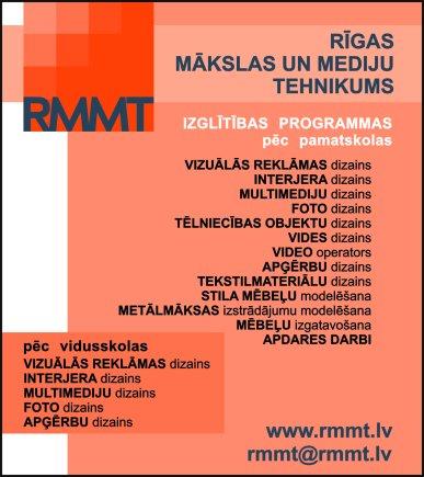 Rīgas Mākslas un mediju tehnikums reklāma Latvijas pašvaldību amatpersonu un politiķu kontaktinformācijas katalogā