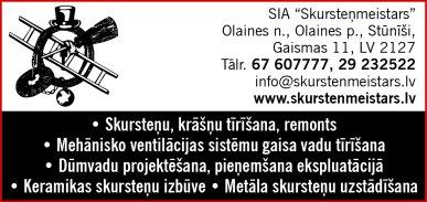 """""""Skursteņmeistars"""", SIA reklāma Latvijas pašvaldību amatpersonu un politiķu kontaktinformācijas katalogā"""