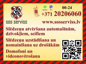 """""""Atslēgu un durvju serviss"""" reklāma Rīgas domes amatpersonu un politiķu kontaktinformācijas katalogā"""