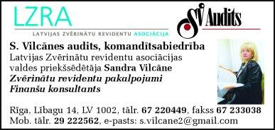"""""""S. Vilcānes audits"""", komandītsabiedrība reklāma Latvijas pašvaldību amatpersonu un politiķu kontaktinformācijas katalogā"""