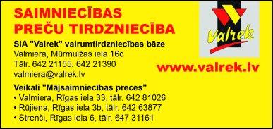 """""""Valrek"""", SIA reklāma Latvijas pašvaldību amatpersonu un politiķu kontaktinformācijas katalogā"""