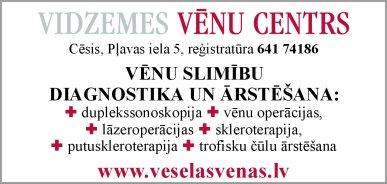 """""""Vidzemes vēnu centrs"""", SIA reklāma Latvijas pašvaldību amatpersonu un politiķu kontaktinformācijas katalogā"""