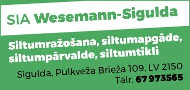 """""""Wesemann-Sigulda"""", SIA reklāma Latvijas pašvaldību amatpersonu un politiķu kontaktinformācijas katalogā"""
