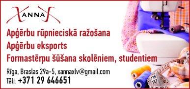"""""""XannaX"""", SIA reklāma Latvijas pašvaldību amatpersonu un politiķu kontaktinformācijas katalogā"""