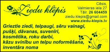 """""""Ziedu klēpis"""", SIA reklāma Latvijas pašvaldību amatpersonu un politiķu kontaktinformācijas katalogā"""