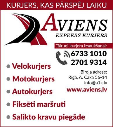 """""""A1 Express kurjers"""", kurjerdienests reklāma Rīgas domes amatpersonu un politiķu kontaktinformācijas katalogā"""