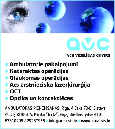 """""""Acu veselības centrs"""", SIA reklāma Rīgas domes amatpersonu un politiķu kontaktinformācijas katalogā"""