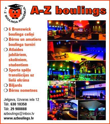 """""""A-Z Boulings"""", centrs reklāma Rīgas domes amatpersonu un politiķu kontaktinformācijas katalogā"""