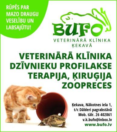 """""""Bufo"""", veterinārā klīnika reklāma Latvijas pašvaldību amatpersonu un politiķu kontaktinformācijas katalogā"""