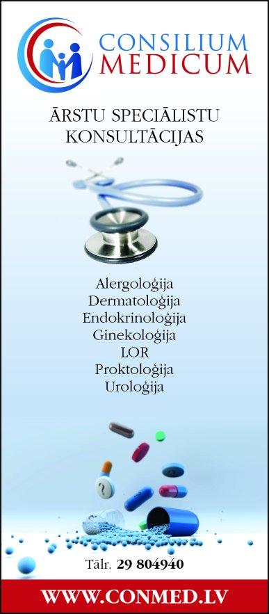 """""""Consilium Medicum"""", SIA reklāma Rīgas domes amatpersonu un politiķu kontaktinformācijas katalogā"""