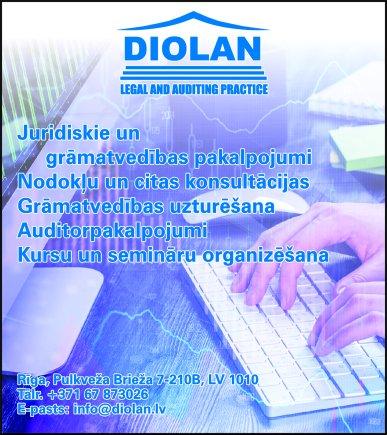 """""""Diolan"""", SIA reklāma Rīgas domes amatpersonu un politiķu kontaktinformācijas katalogā"""