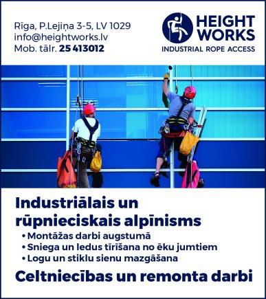 """""""Height Works"""", SIA reklāma Rīgas domes amatpersonu un politiķu kontaktinformācijas katalogā"""