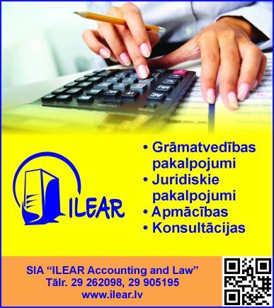 """""""ILEAR Accounting and Law"""", SIA reklāma Rīgas domes amatpersonu un politiķu kontaktinformācijas katalogā"""