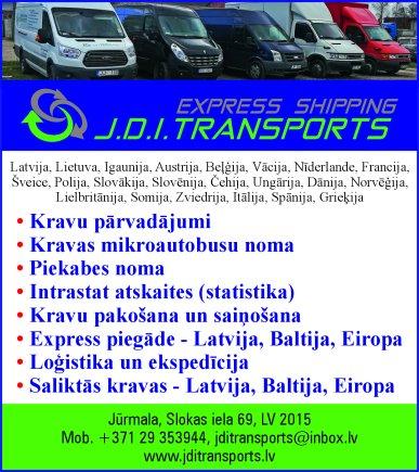 """""""J.D.I. transports"""", SIA reklāma Rīgas domes amatpersonu un politiķu kontaktinformācijas katalogā"""