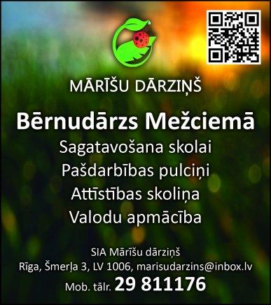 """""""Mārīšu dārziņš"""", SIA reklāma Rīgas domes amatpersonu un politiķu kontaktinformācijas katalogā"""