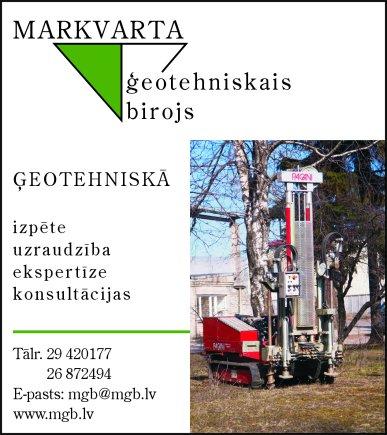 """""""Markvarta ģeotehniskais birojs"""", SIA reklāma Rīgas domes amatpersonu un politiķu kontaktinformācijas katalogā"""