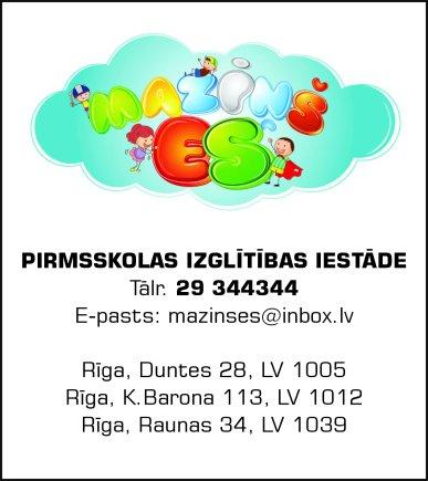 """""""Maziņš ES"""", pirmsskolas izglītības iestāde reklāma Rīgas domes amatpersonu un politiķu kontaktinformācijas katalogā"""