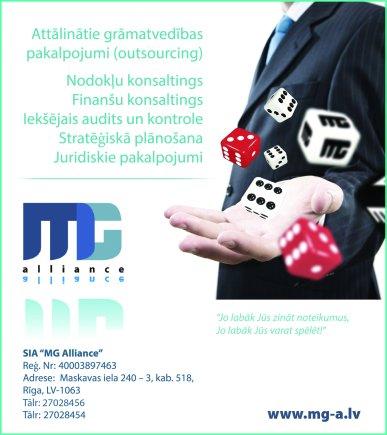 """""""MG Alliance"""", SIA reklāma Latvijas pašvaldību amatpersonu un politiķu kontaktinformācijas katalogā"""