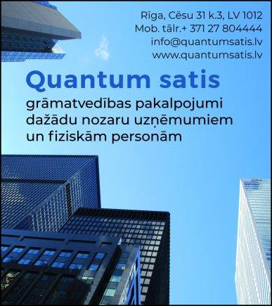 """""""Quantum satis"""", SIA reklāma Latvijas pašvaldību amatpersonu un politiķu kontaktinformācijas katalogā"""