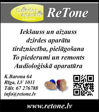 """""""ReTone"""", SIA reklāma Latvijas pašvaldību amatpersonu un politiķu kontaktinformācijas katalogā"""
