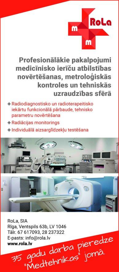 """""""RoLa"""", SIA reklāma Latvijas pašvaldību amatpersonu un politiķu kontaktinformācijas katalogā"""