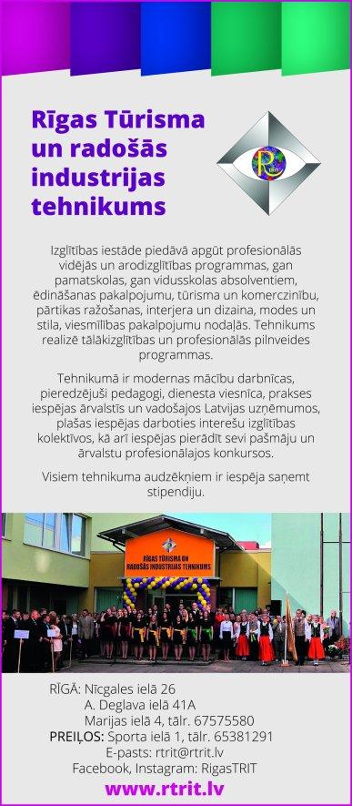 """""""Rīgas Tūrisma un radošās industrijas tehnikums"""", SIA reklāma Latvijas pašvaldību amatpersonu un politiķu kontaktinformācijas katalogā"""