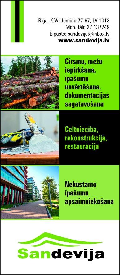 """""""Sandevija"""", SIA reklāma Latvijas pašvaldību amatpersonu un politiķu kontaktinformācijas katalogā"""