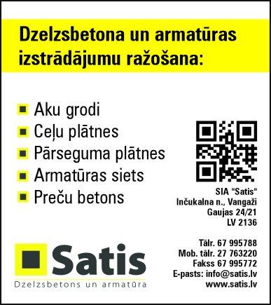 """""""Satis"""", SIA reklāma Latvijas pašvaldību amatpersonu un politiķu kontaktinformācijas katalogā"""