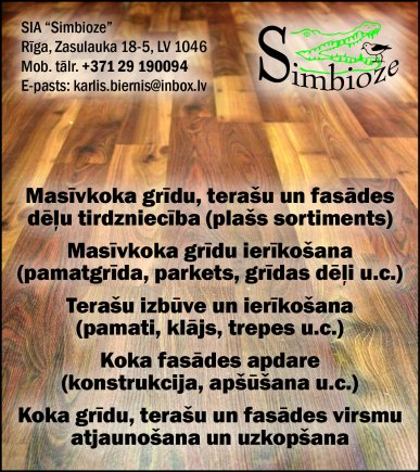 """""""Simbioze"""", SIA reklāma Latvijas pašvaldību amatpersonu un politiķu kontaktinformācijas katalogā"""