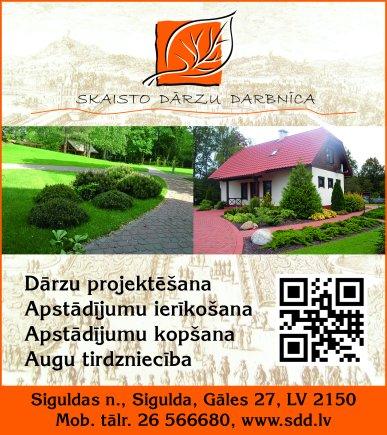 """""""Skaisto dārzu darbnīca"""", SIA reklāma Latvijas pašvaldību amatpersonu un politiķu kontaktinformācijas katalogā"""