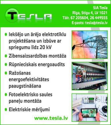 """""""Tesla"""", SIA reklāma Latvijas pašvaldību amatpersonu un politiķu kontaktinformācijas katalogā"""