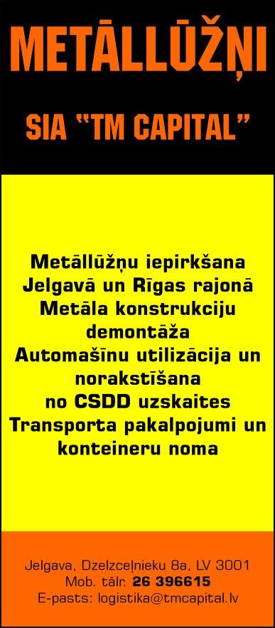 """""""TM Capital"""", SIA reklāma Latvijas pašvaldību amatpersonu un politiķu kontaktinformācijas katalogā"""