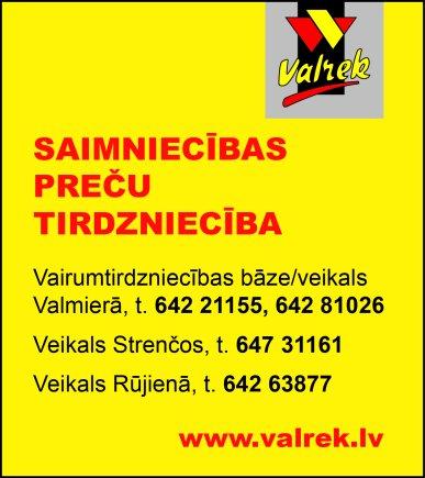 """""""Valrek"""", SIA reklāma Rīgas domes amatpersonu un politiķu kontaktinformācijas katalogā"""