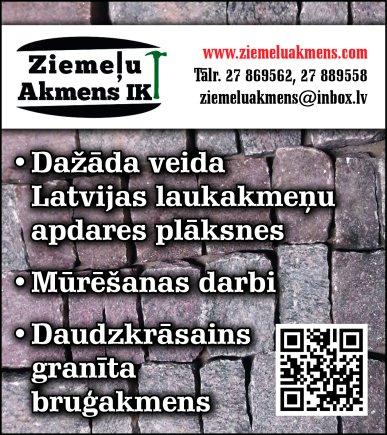 """""""Ziemeļu akmens"""", IK reklāma Latvijas pašvaldību amatpersonu un politiķu kontaktinformācijas katalogā"""